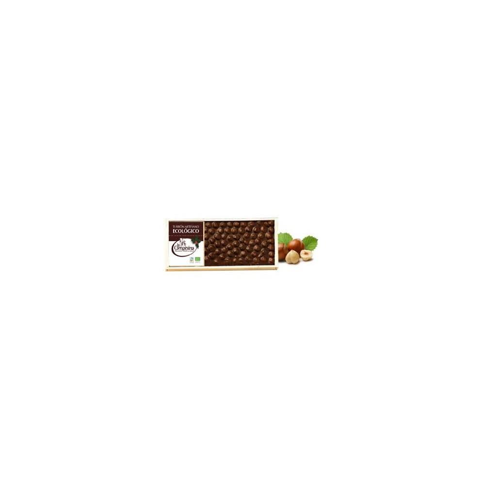 Turrón Artesano de Chocolate y Avellanas - La Campesina - tienda vegana online