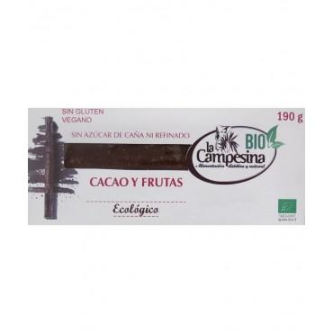 Turrón de Cacao y Frutas - La Campesina