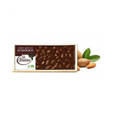 Turrón Artesano de Chocolate con Almendras - La Campesina