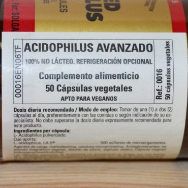Advanced Acidophilus 50 cáps. - Solgar- tienda vegana online