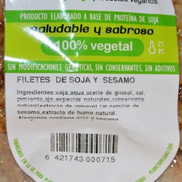Filetes Soja y Sésamo - Veggisimo - tienda vegana online