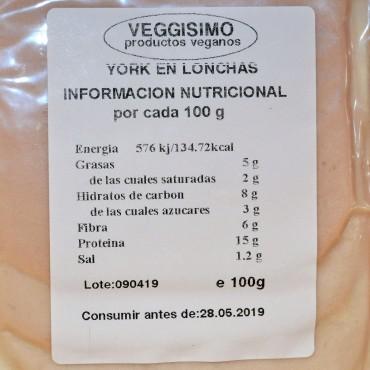 York en lonchas - Veggisimo- tienda vegana online