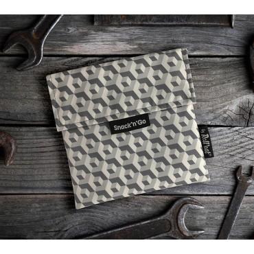 Porta Snacks Tiles Negro - by Roll'eat - tienda vegana online