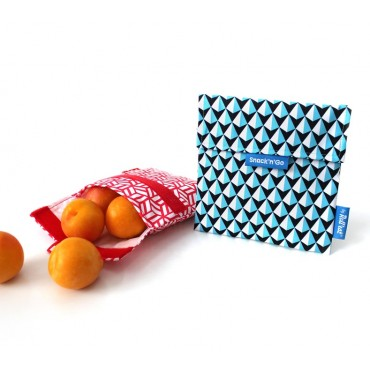 Porta Snacks Tiles Azul - by Roll'eat- tienda vegana online