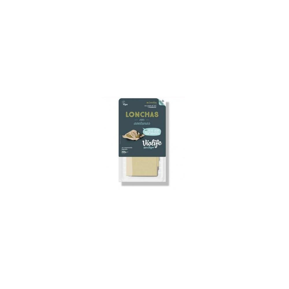 Queso Lonchas aceitunas - Violife - tienda vegana online