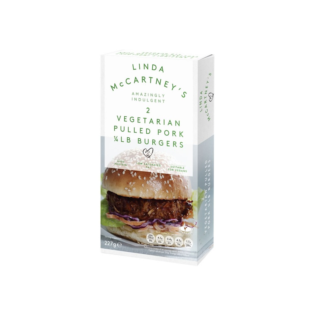 Hamburguesas Pulled Pork - Linda McCartney - tienda vegana online