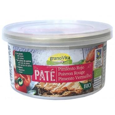 Paté de Pimiento Rojo 125 g. Granovita - tienda vegana online