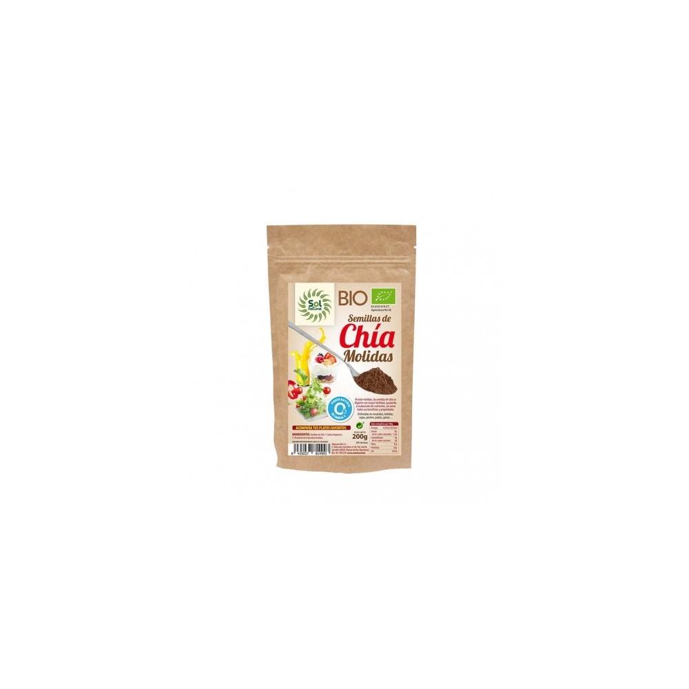 Semillas de Chía Molidas 200 g.- Sol Natural- tienda vegana online