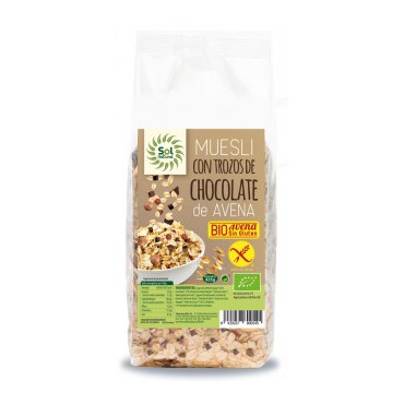 Muesli Avena con Chocolate 425 g. Sol Natural