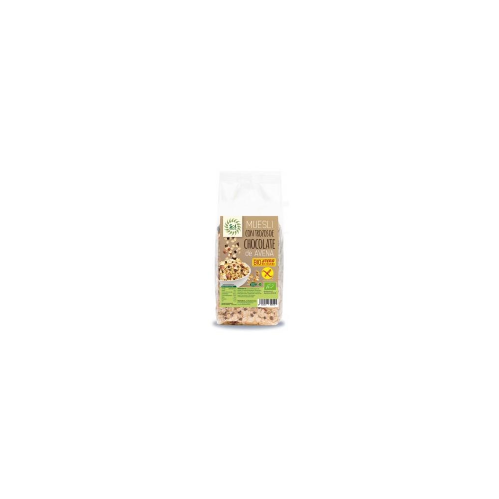 Muesli Avena con Chocolate 425 g. Sol Natural - tienda vegana online
