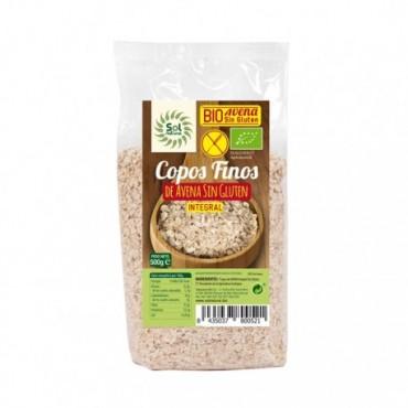 Copos de Avena Finos Sin Gluten 500 g. - Sol Natural - tienda vegana online
