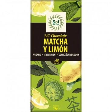 Chocolate Matcha y Limón - Sol Natural - tienda vegana online