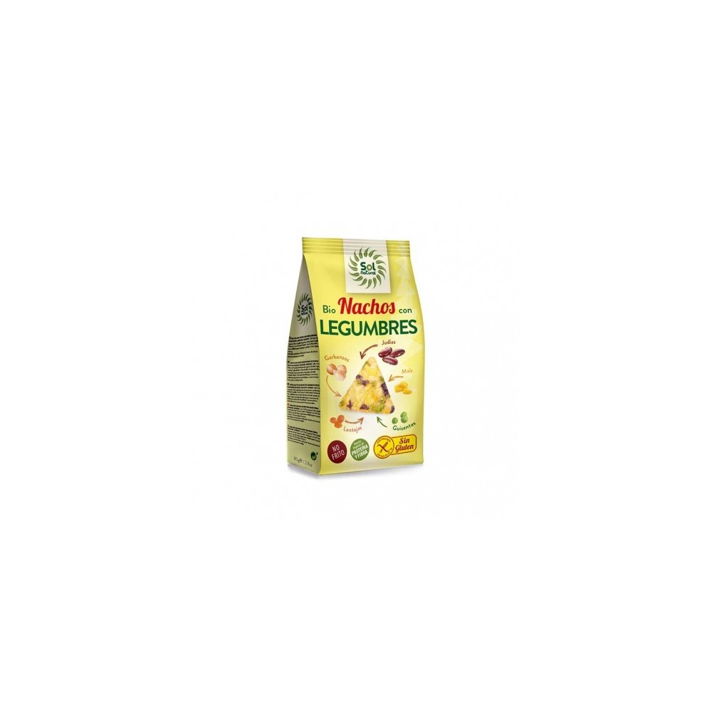 Nachos con Legumbres 80 g. - Sol Natural - tienda vegana online