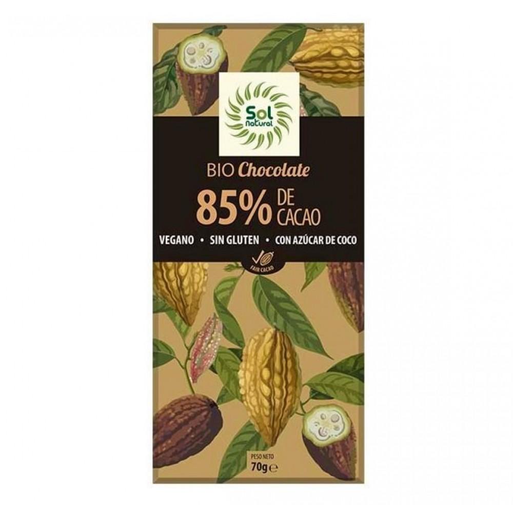 Chocolate 85 % Cacao - Sol Natural - tienda vegana online