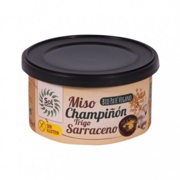 Paté Miso Champiñón y Trigo Sarraceno 125 g. Sol Natural - tienda vegana online