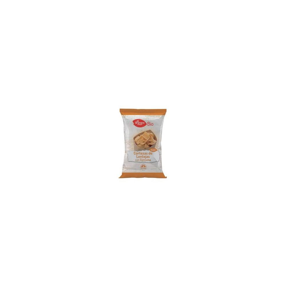 Cortezas de Lentejas con Cúrcuma 65 g. - El Granero Integral - tienda vegana online