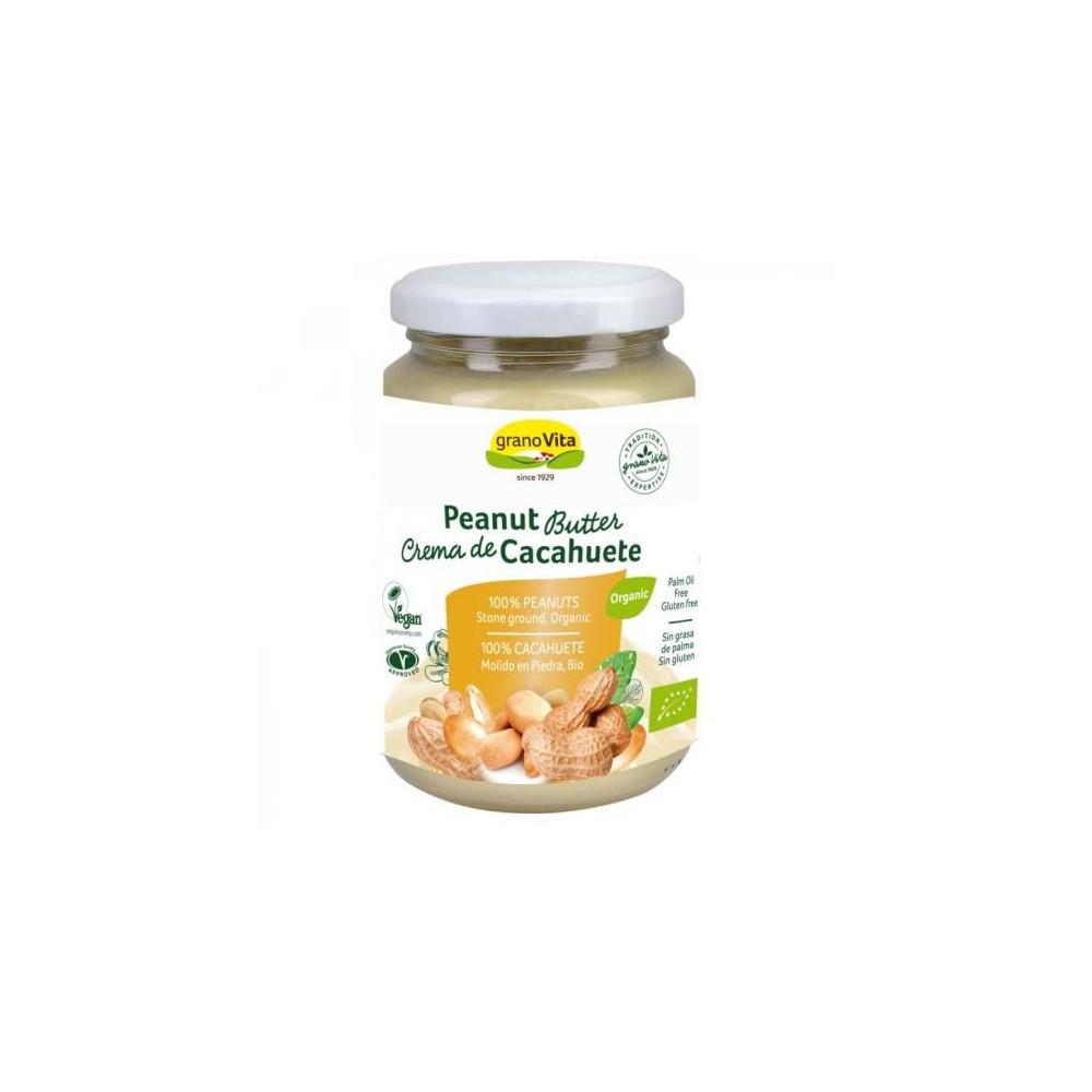Crema de Cacahuete Bio 350 grs. - GranoVita - tienda vegana online