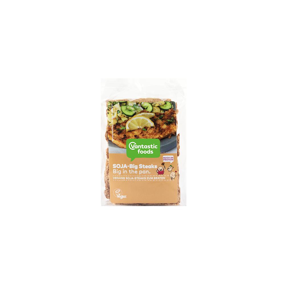 Filetes Grandes de Soja 500 grs. - Vantastic Foods - tienda vegana online