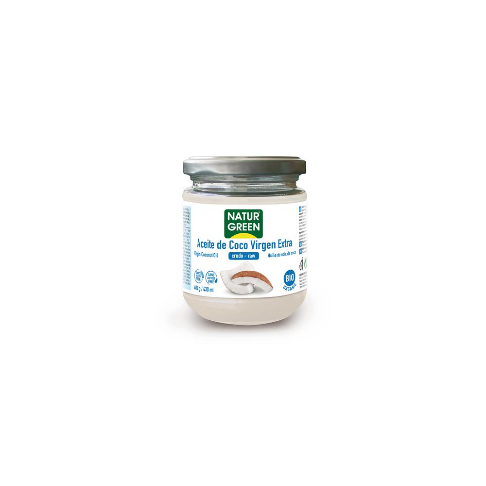 Aceite de Coco Virgen Bio 430 ml / 400 g - NaturGreen - tienda vegana online