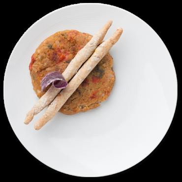 Bio Burger Vegetal Setas y Pimientos 750 grs. - Ahimsa - tienda vegana online