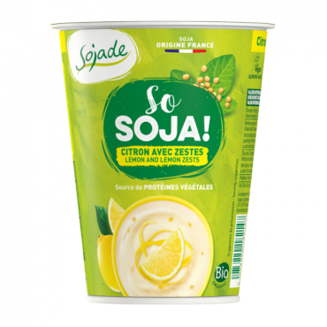 Yogur Soja Limón - Sojade 400 ml.