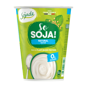 Yogur Soja Natural - Sojade 400 ml.