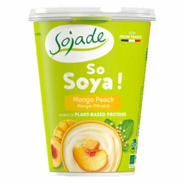 Yogur Soja Melocotón y Mango - Sojade 400 ml. - tienda vegana online