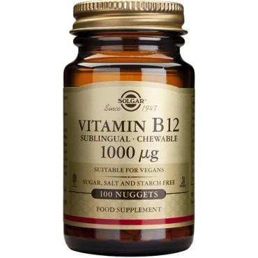 Vitamina B12 1000 μg, 100 comprimidos - Solgar