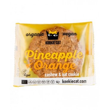 Galleta Piña y Naranja Sin Gluten - Kookie Cat - tienda vegana online