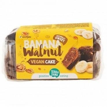 Vegan Cake Plátano y Nueces 350 g. - Terra Sana
