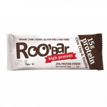 Barrita Raw Proteica Choco chip y Vainilla - RooBaR