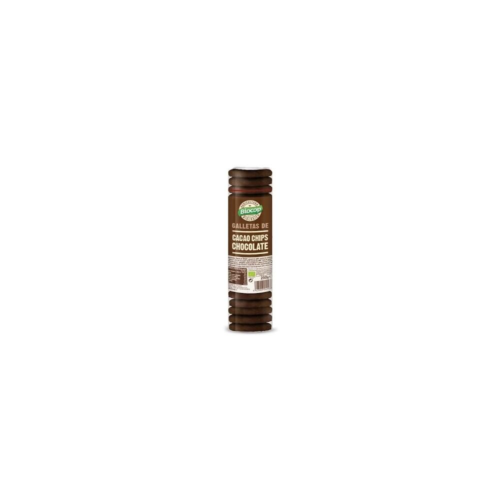 Galletas Cacao Chips Chocolate Clásicas - Biocop - tienda vegana online