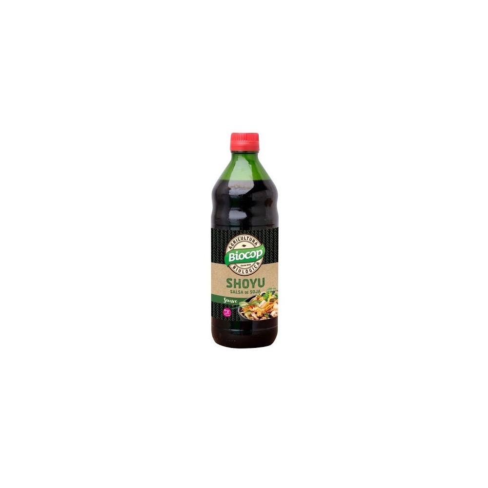 Salsa de Soja Shoyu 500 ml. - Biocop - tienda vegana online