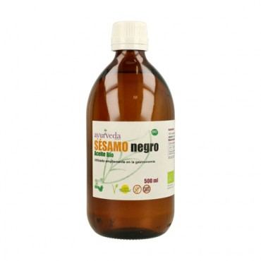 Aceite de Sésamo Negro 500 ml. - Ayurveda - tienda vegana online