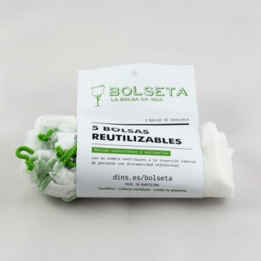 Bolsas Reutilizables 30x30 - Bolseta-  tienda vegana online
