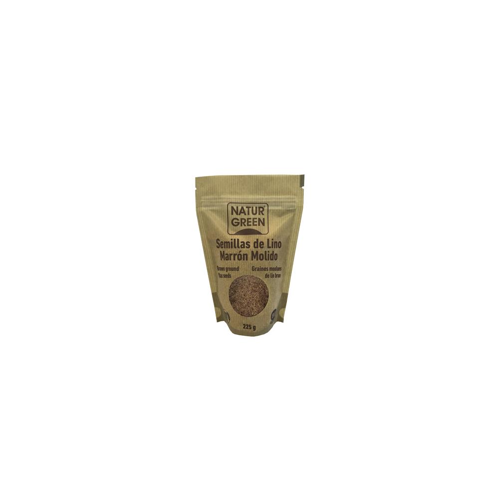 Semillas de Lino Marrón Molidas 225 g. - NaturGreen - tienda vegana online