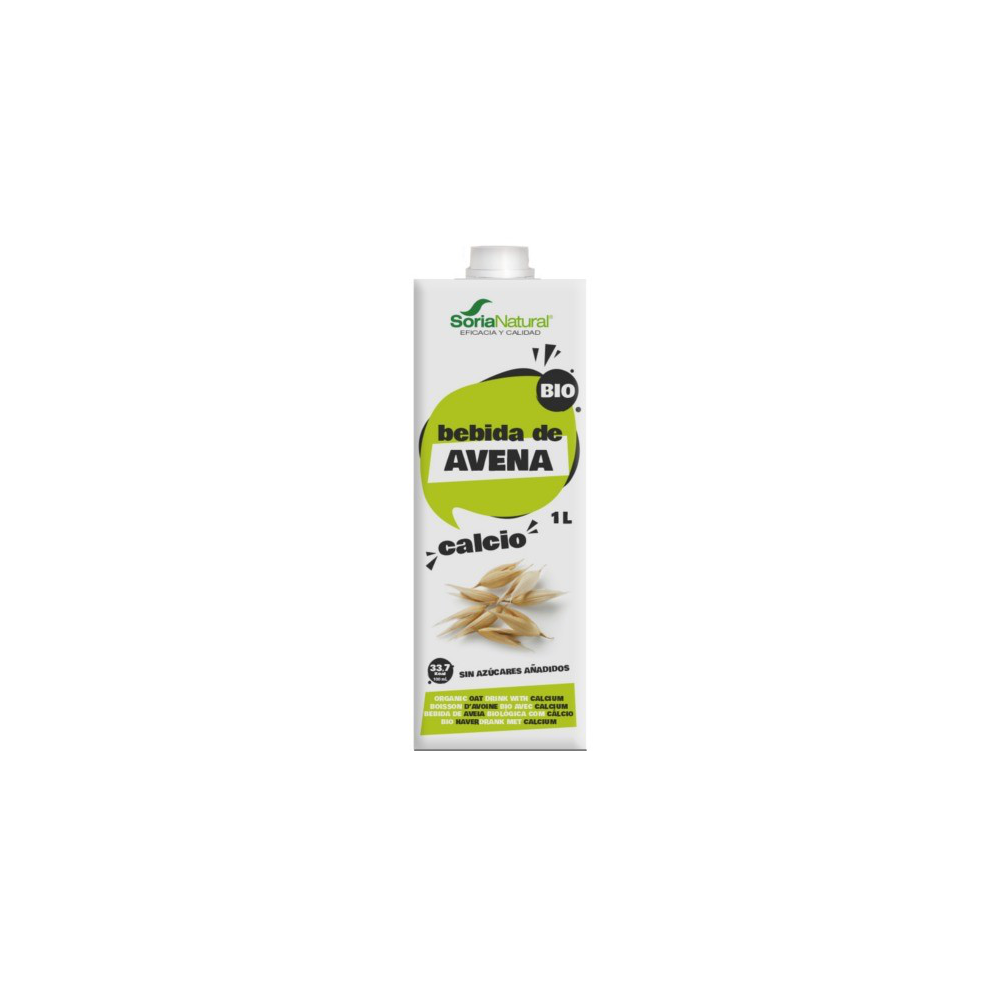 Bebida Avena Calcio 1 L. - Soria Natural - tienda vegana online
