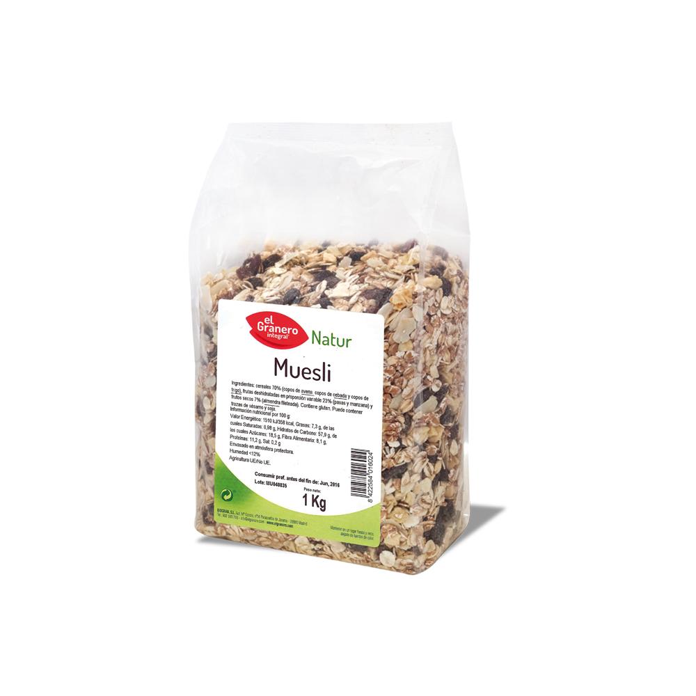 Muesli 1 kg. - El Granero Integral - tienda vegana online