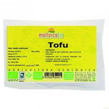 Tofu Natural - Mallorca Bio- tienda vegana online
