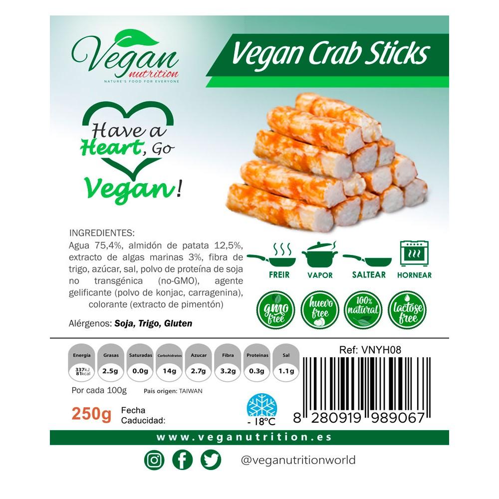 Palitos de Cangrejo - Vegan Nutrition - tienda vegena online