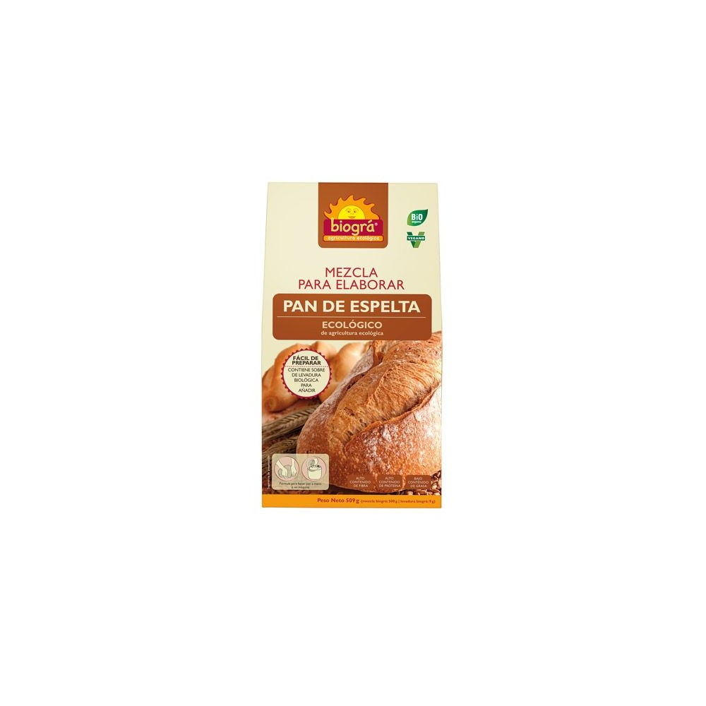 Mezcla para elaborar Pan de Espelta - Biográ - tienda vegana online
