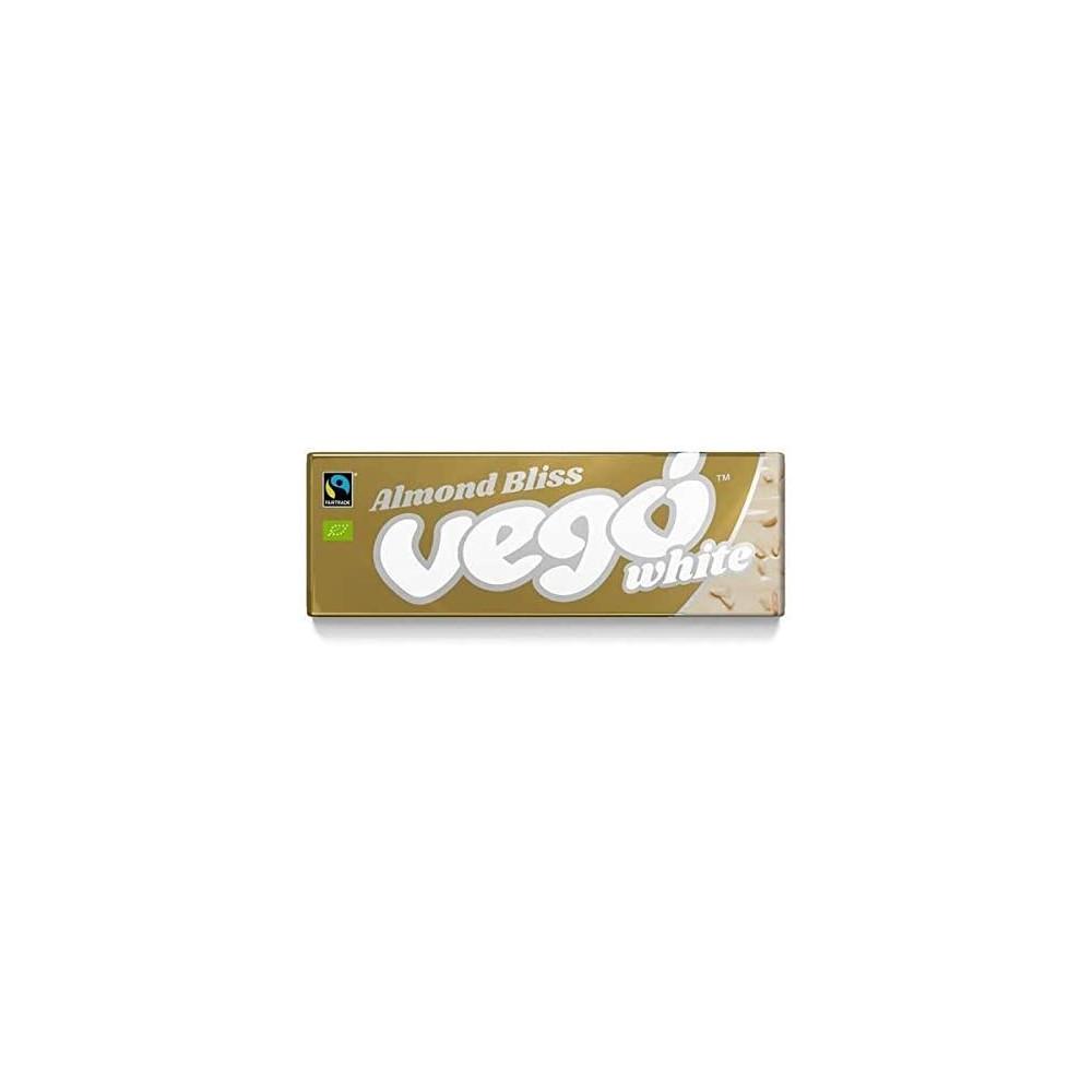 Chocolatina Blanca con Almendras - Vegó - tienda vegana online