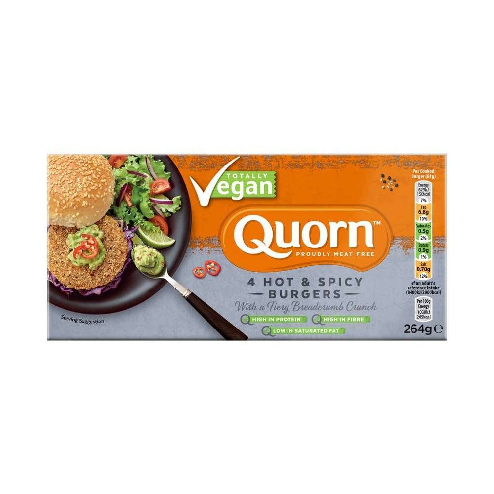 Hamburguesa Especiada - Quorn - tienda vegana online