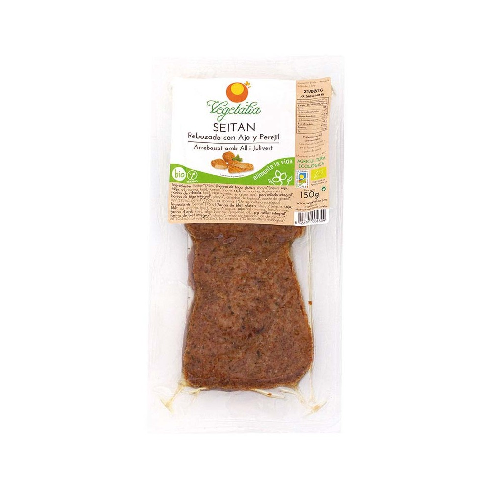 Seitán Rebozado con Ajo y Perejil - Vegetalia - tienda vegana online