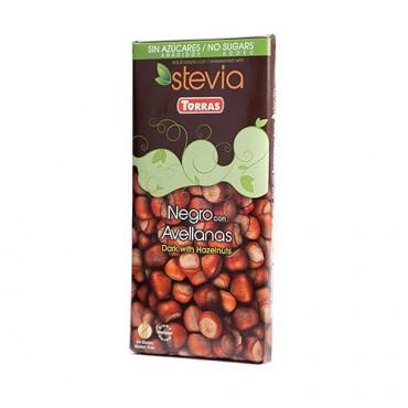 Chocolate Negro con Avellanas Sin Azúcar - Torras - tienda vegana online