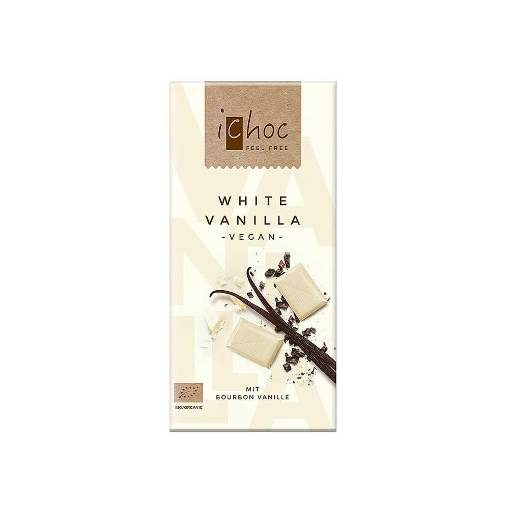 Chocolate Blanco con Vainilla - iChoc - tienda vegana online