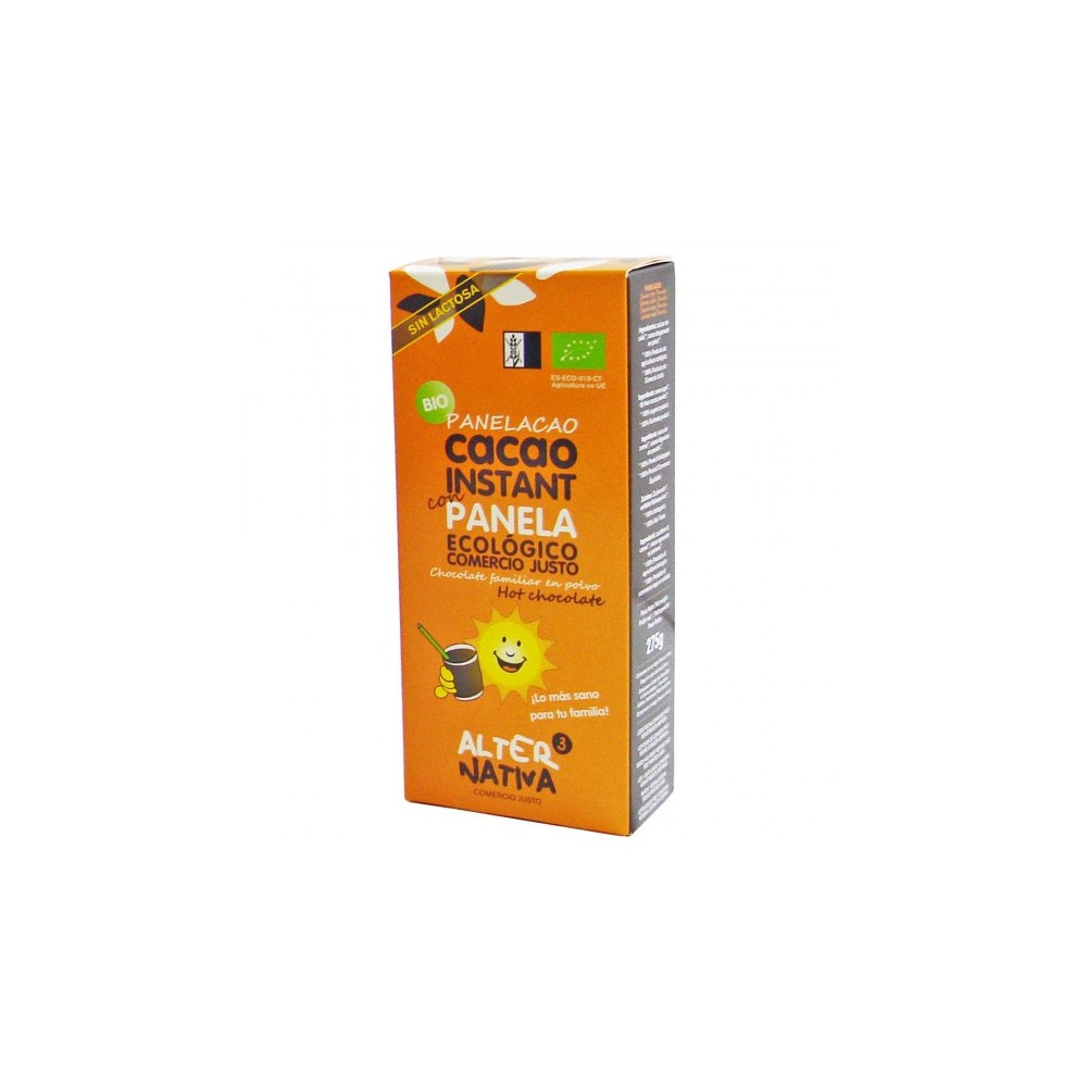Cacao instantáneo con Panela 275 g. - Alternativa 3 - tienda vegana online