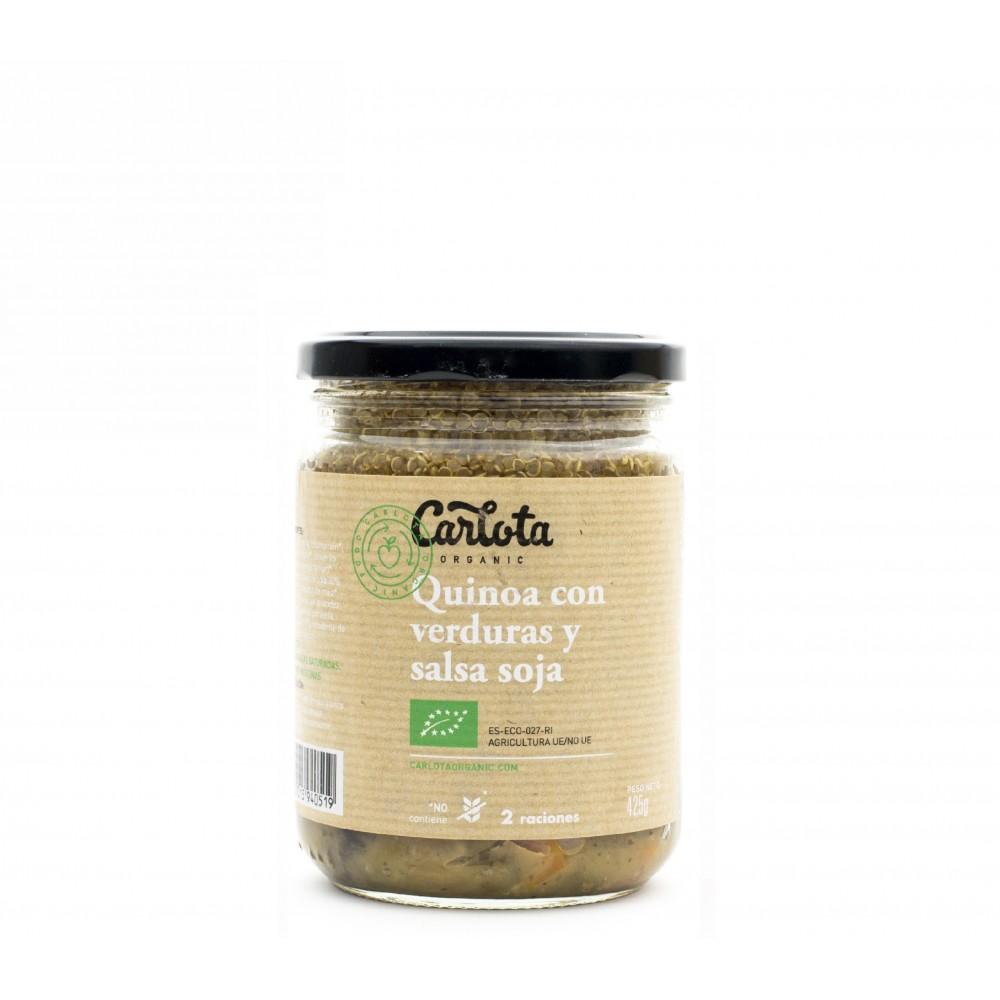 Quinoa con Verduras y salsa de Soja 425 g. - Carlota - tienda vegana online