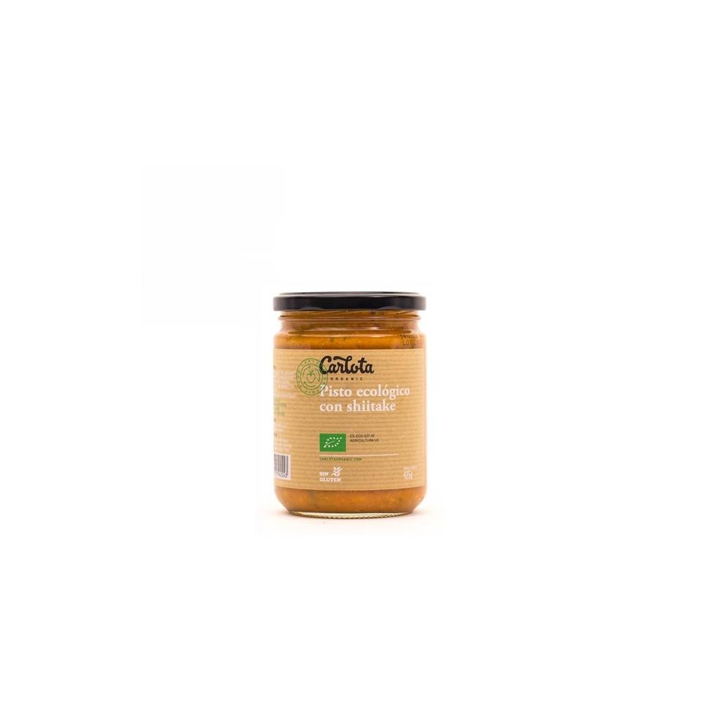 Pisto ecológico con Shiitake 425 g. - Carlota - tienda vegana online