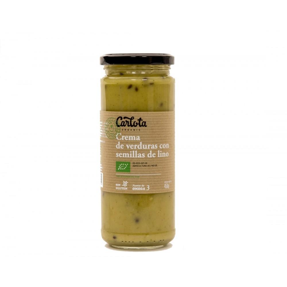 Crema de Verduras con semillas de Lino 450 g. - Carlota - tienda vegana online